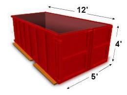 10-yard disposal bin