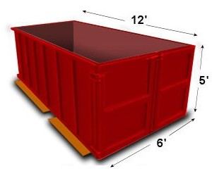 15-yard disposal bin