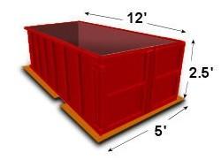 5-yard disposal bin